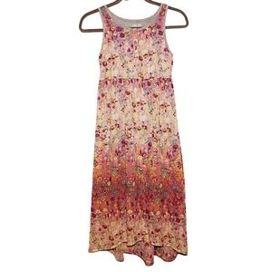 Cherokee Vintage Gray and Floral Maxi Dress (10)